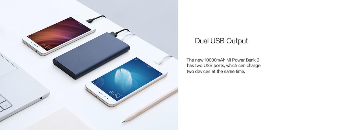 پاور بانک 10000 دو پورت USB نسخه 2 شیائومی   شیائومی کالا