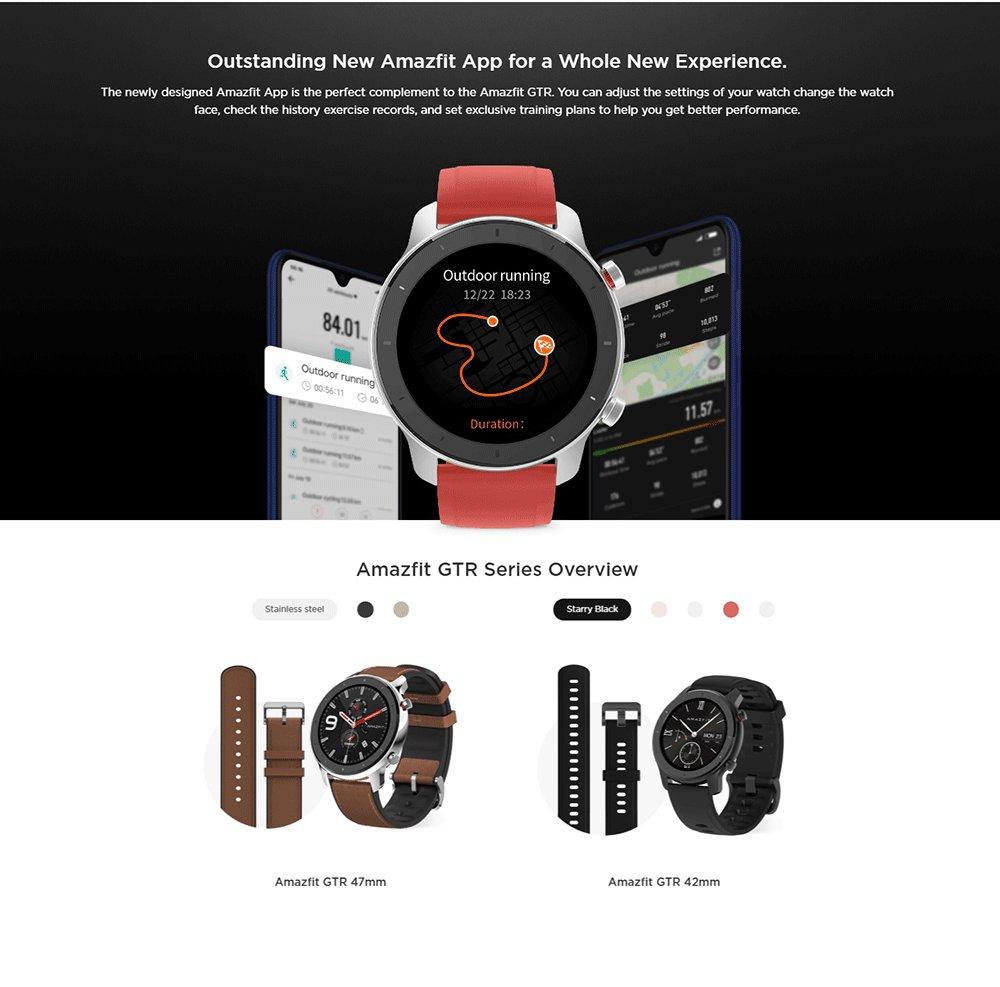 ساعت هوشمند شیائومی مدل آمازفیت GTR